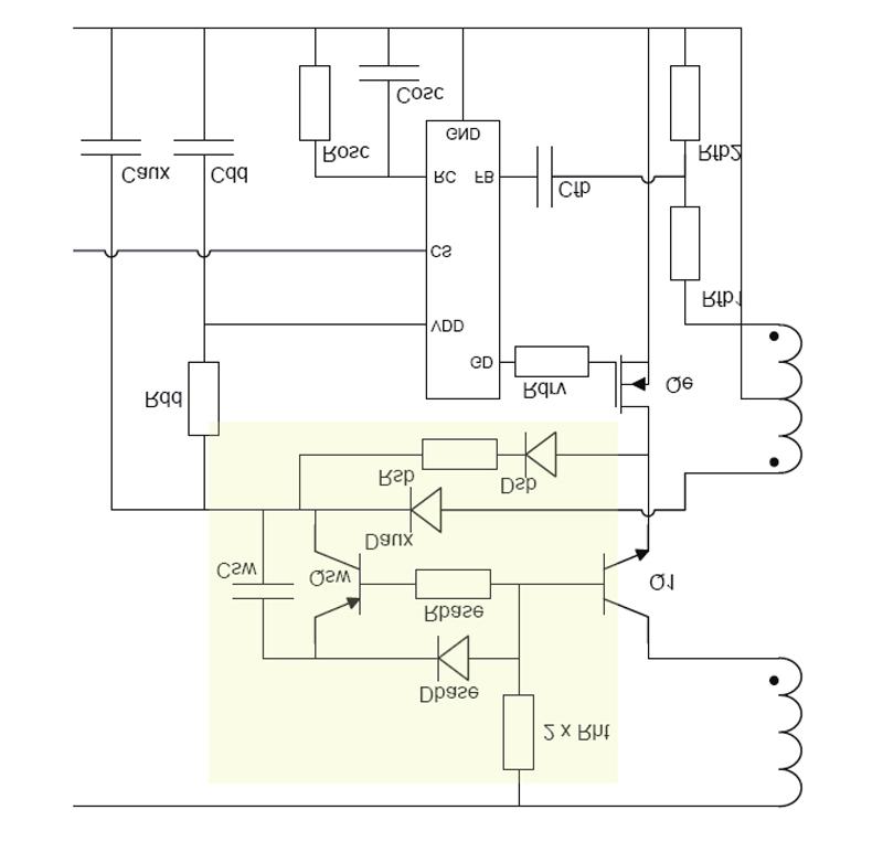 点击图片放大   降低空载功耗   无需使用光耦回馈式或线性稳压器不仅可以节省空间和成本,而且还提高了可靠性,同时降低了功耗。在无负载测量条件下功耗特别重要。显然,工业应用不大可能降低无负载水平的待机电流消耗,但是对电源设计人员来说,无负载条件仍然是一个有用的基准。特别是,一个控制器从空载电流恢复到满载电流阶跃(currentstep)的能力是对该电路动态能力的极大考验,在从浅待机水平(lightstandby-level)负载切换到正常工作电流时,设计人员可以期待更好的性能。   图1中的基本电路通过
